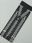 Black & White Chequered Braces 2cm wide